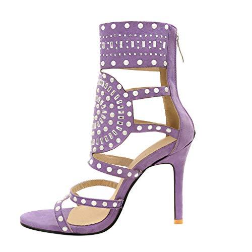 Wyxhkj Sandalias Mujeres De Tacón Alto Rhinestone Zapatos De Vestir De Lujo Con Estilo De Tacón Exóticos De Moda Para Mujer Zapatos De Punta Abierta De Fiesta