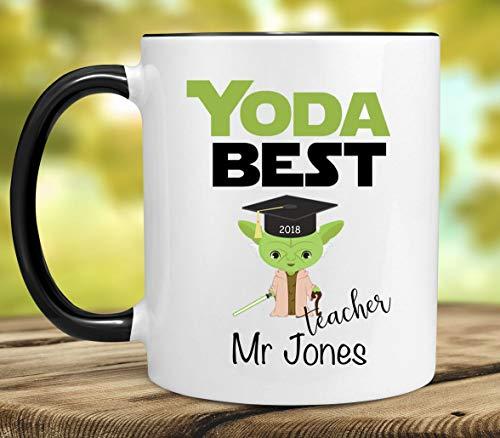 NA Taza de Mejor Maestro Yoda, Mejor Taza de Yoda para Regalo...
