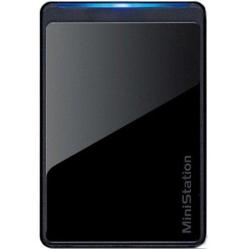 Buffalo MiniStation Slim 1TB USB 2.0 Portable Hard Drive - Bl