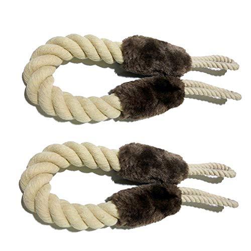 2 Stück Baumwolle Türkordel Klemmschutz,Türstopper Klinke,Türkordeln,Türsicherung für Haustier und Kinder Fingerschutz