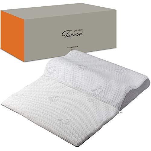 GOKUMIN takumi グランピロー ボディピロー 枕 まくら pillow 抗菌防臭加工 意匠特許取得済み【14段階の高さと20通りの使い方が出来る画期的枕】 (プレミアムホワイト)
