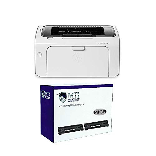 MICR Toner International Renewed M12w Laser Check Printing Bundle with 2...