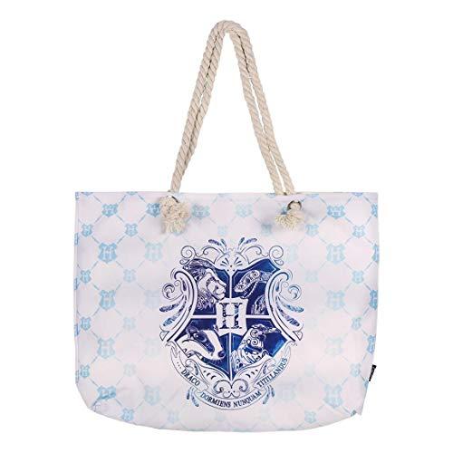 Cerdá 2100002925 Harry Potter strandtas, 100% katoen, unisex, kinderen, blauw, groot