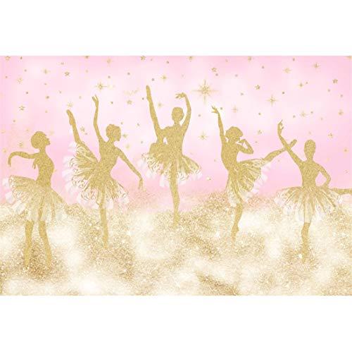 Yeele 5x3ft Ballerina Backdrop for Girl Birthday Party Sweet Tutu Ballet Little Dancing Girl Princess Photography Background Daughter Baby Room Decoration Studio Props