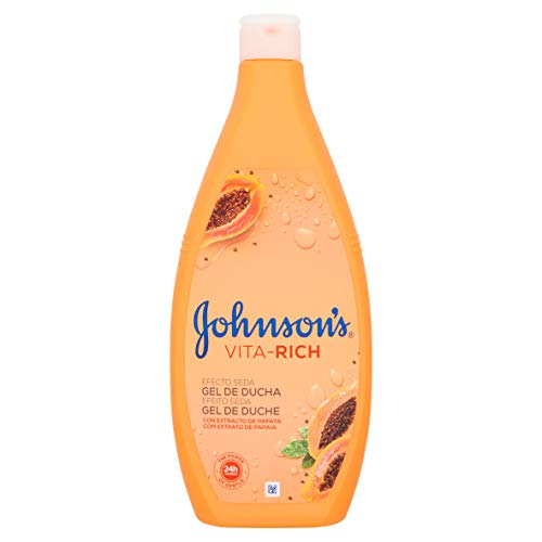 Johnson's Vita-Rich Douchegel zijdeeffect met papaya-extract, 750 ml