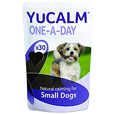 Lintbells   YuCALM ONE-A-DAY Small Chewies For Dogs   Calming Supplement for Dogs who are Stressed or Nervous, All Ages and Breeds   30 Chews - 1 Month supply