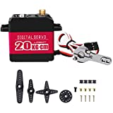 20KG Digital Servo Full Metal Gear High Torque, Aluminium Case for Robot DIY (Control Angle 180)