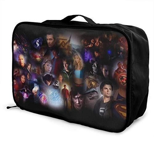 Smallville Travel Lage Duffel Bag - Maleta ligera para mujer, hombre, niños, impermeable, grande, Bapa Caity