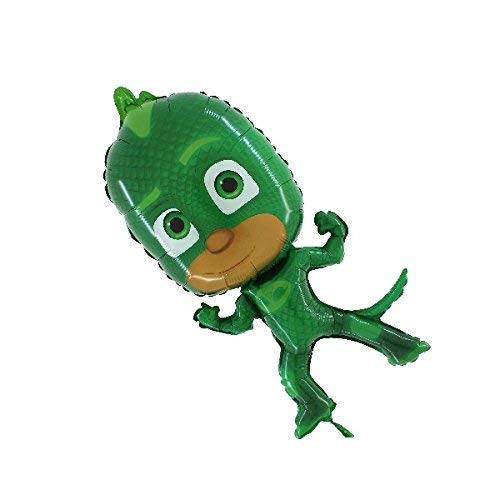 """Grabo- Pallone Foil Supershape 31""""""""-79 cm SuperPigiamini-PJ Mask Gekko Non CONFEZIONATO, Verde, L175"""