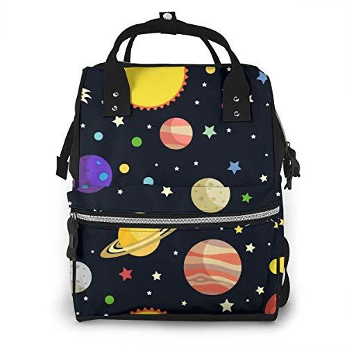 Space Stars Dessin Sac à Couches de Mode Imperméable Multifonction Sac à Dos de Voyage Grand Sac à Langer Sacs Maman Sac à Dos pour Soins de Bébé