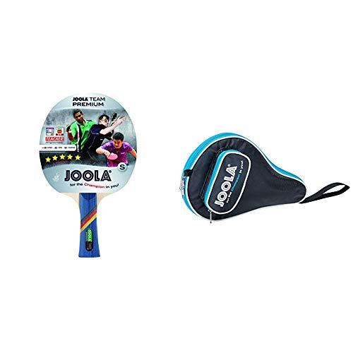 JOOLA Team Premium Tischtennisschläger, Mehrfarbig & TT-Hülle Pocket schwarz-blau