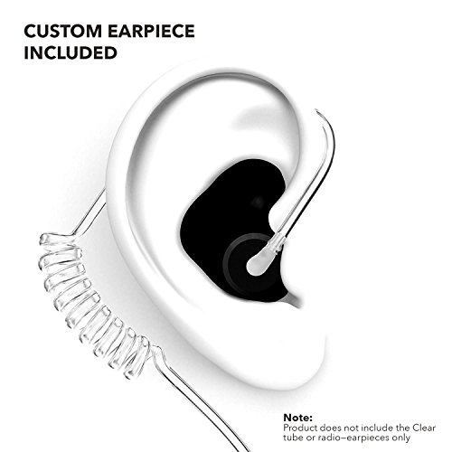 Decibullz - Custom Molded Security Radio Adapters, Thermo-Fit Earpieces Designed for Clear Acoustic Tube Radios