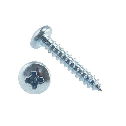Linsen-Blechschraube DIN 7981 Stahl galv. verzinkt Form C-H 4,2 x 16-100 Stück