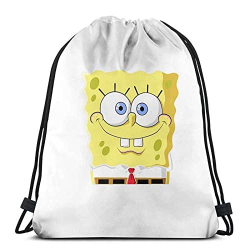 Sp-onge Bob - Mochila para gimnasio, mochila escolar, de polietileno, para natación, de viaje, para niños, niñas, hombres y mujeres