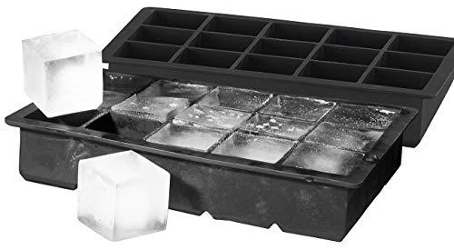 PEARL Jumbo Eiswürfel-Bereiter: 2er-Set Silikon-Eiswürfelformen für je 15 kleine Eiswürfel, je 3x3x3cm (Eiswürfelform XL)