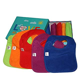 Best Baby Teething Bibs with Snaps Closure Waterproof 100% Terry Cotton Colorful Dribble & Teething Unique Drooler Bibs Set (Bibs Waterproof 10-Pack (with Gift Box)) (B00K9OS2LG) | Amazon price tracker / tracking, Amazon price history charts, Amazon price watches, Amazon price drop alerts