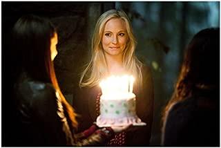 The Vampire Diaries (TV Series 2009 - ) 8 Inch x 10 Inch photo Candice King w/Birthday Cake kn