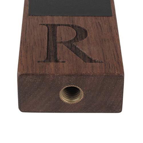 Product Image 5: Monogrammed R Wood Beer Tap Handle for Home Brew Kegerators, Home Bar, Draft Beer Tap Chalkboard, Beer Gift for Men, 8 Inch Tall Walnut Wood