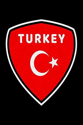 Türkei Wappen Notizbuch: Schönes Türkei Wappen Notizbuch mit 120 karierten Seiten im A5 Format