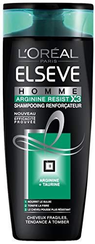 L'Oréal Paris Elsève Homme Shampooing Arginine Resist pour Cheveux Fragiles/Tendance à Tomber 250 ml
