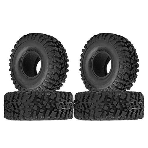 Neumático de Coche RC de 1.9 Pulgadas, 4PCS 45mm RC Crawler Neumático de Goma del Neumático del Coche con Esponja(120mm)