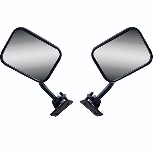 Textured Black Door Off Mirror for Jeep Wrangler One Pair Rectangular Mirrors Fit for Jeep Wrangler JK JKU CJ TJ Jeep Safari