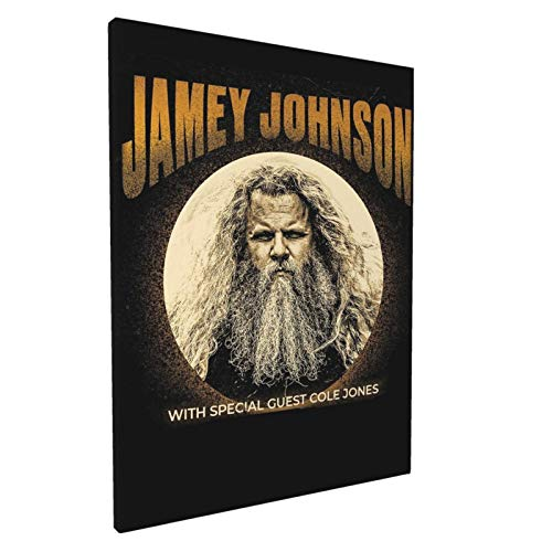 Jamey Johnson 2020 Wall Art Decor Canvas Print Picture Framed Artwork Ready To Hang For Bedroom Home Living Room Wall Decoration 12x16in