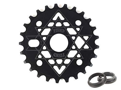 Fiend BMX Palmere - Plato para bicicleta (25 dientes, 19 mm, 22 mm, 24 mm), color negro