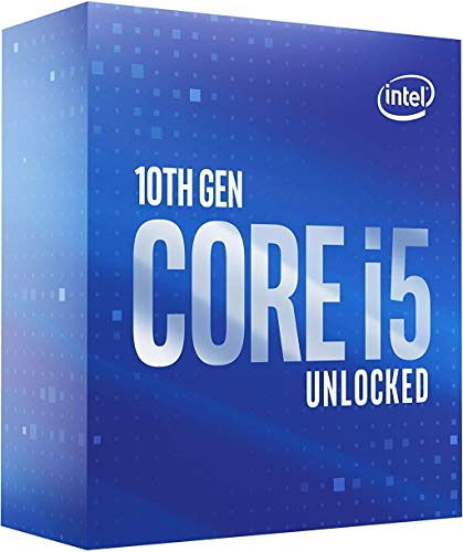 Processore Intel Core i5-10600K per desktop 6 core fino a 4,8 GHz Sbloccato LGA1200 (chipset Intel serie 400) 125 W
