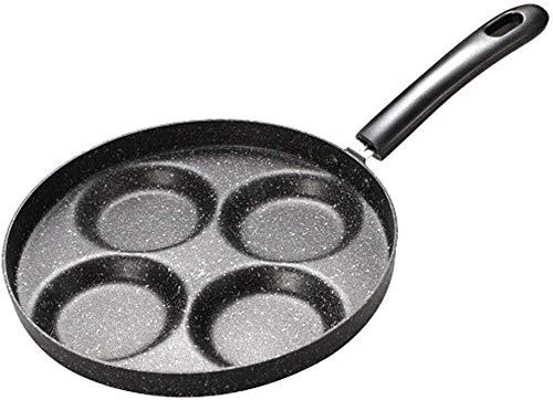 Roestvrij stalen keukengereedschap Nonstick Koekenpan 4 eenheden Kookgerei Fry Pan voor Ei Pannenkoek Steak Koekenpan voor Gas Cooker Grill Koekenpan