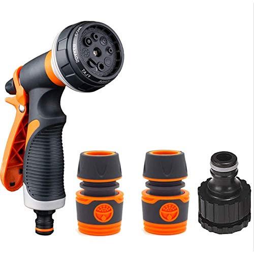 Pistola de Riego de Alta Presión-WENTS Pistola de Agua de Jardín,8 Modos Diferentes, Boquilla para Manguera de Jardín para Regar el Césped, Lavado de Autos, Baño de Mascotas, Limpieza de Acera