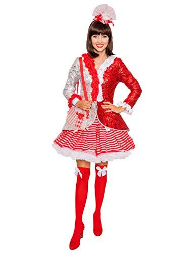 Chaqueta para mujer, color rojo y plateado, talla 46