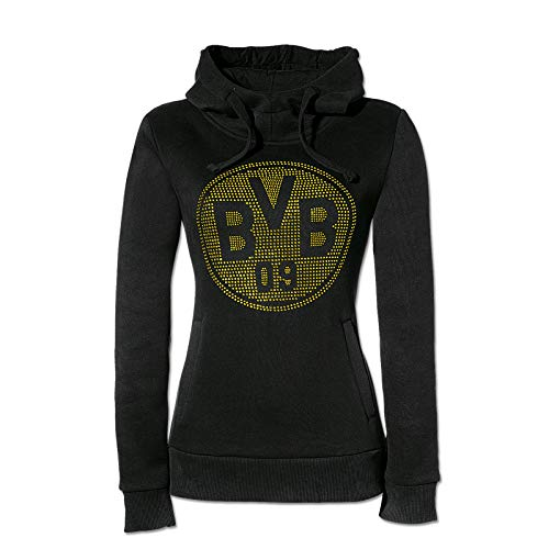 Borussia Dortmund BVB-Kapuzen-Sweatshirt mit Strass für Frauen XXL