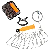 Techson Fish Stringer Kit, Portable Live Fish Large Buckle Lock, Stainless Steel Fishing