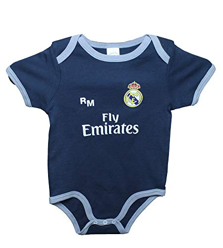 Real Madrid FC Baby Jungen (0-24 Monate) Set Schwarz schwarz/grau, Schwarz 3 Monate