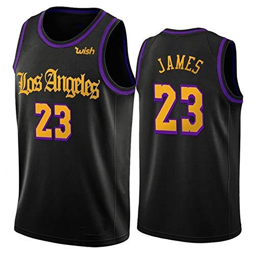 Herren Basketball Shirt / 23# Lebron James Los Angeles Lakers Trikot Swingman Edition Trikot Vintage Besticktes Trikot Sport Basketball Kleidung Geburtstagsgeschenk (Größe: S-XXL)-blacks2-L
