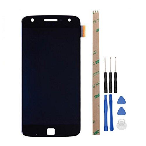 HYYT Reparatur und Ersatz LCD Display + Touchscreen Digitizer für Motorola Moto Z Play mit Frei Werkzeuge (Schwarz)