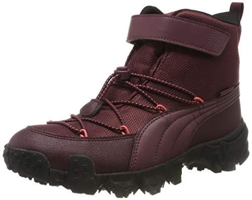 PUMA Maka PURETEX V Jr Sneaker, (Vineyard Wine Heather-Calypso Coral 03), 36 EU