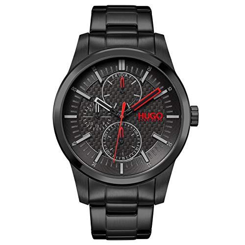 HUGO Herren Analog Quarz Uhr mit Edelstahl Armband 1530156