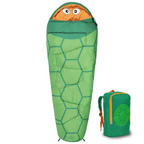 Highlander Kids Creature Sleeping Bag - Bolsos junior estilo momia para acampar en verano o fiestas de pijamas (Verde)