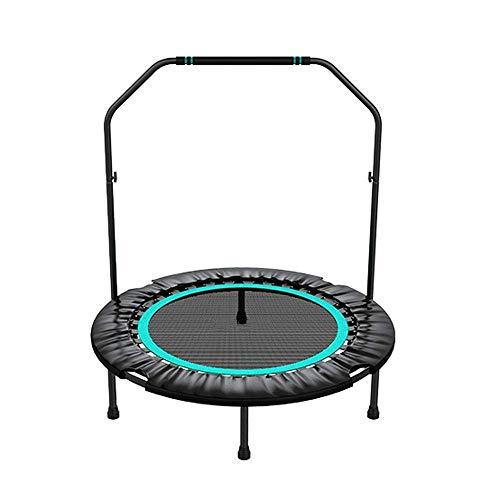 JGWHW Faltbares Fitness-Trampolin/Indoor-Trampolin/Rebounder - mit Stabilitätsstange - 40 Zoll (Farbe : Grün)