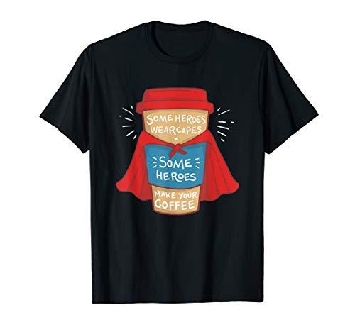 Barista Superheld Kaffeebecher Geschenk Kaffee T-Shirt