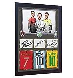 SGH SERVICES Gerahmtes Poster Neymar Messi Ronaldo Juventus