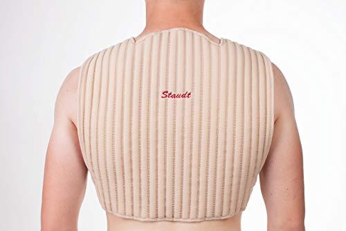 STAUDT Hals-Wirbel-Schulter-Bandage - gegen Schulterschmerzen, Nackenschmerzen, Nackenverspannungen und Rückenschmerzen - nächtliche Anwendung - SomniShop-Set (Größe S)