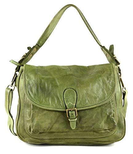 BZNA Bag Vera grün italy Designer Leder Schulter Ledertasche Umhänge Tasche Handtasche Neu Shopper