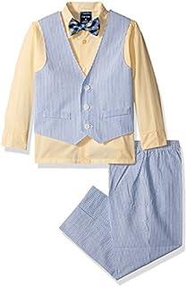 Izod Boys' 4-Piece Vest Set with Dress Shirt, Bow Tie, Pants, and Vest