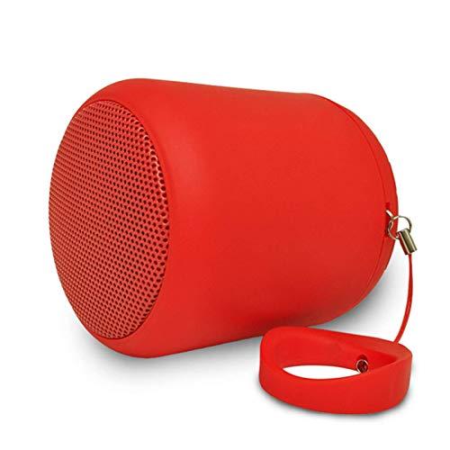 ACEMIC Altavoz Bluetooth Portátil, Impermeabile Altavoz Inalámbrico con Sonido ESTÉREO, con Sonido Extra Bass, Tarjeta TF Y Alcance Bluetooth De 66 Pies,Radio, Hogar, Exterior, Fiesta, Viajes,Rojo