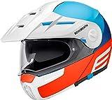 Schuberth Casco modular E1 Cut blanco/azul/naranja, XS (53/54)