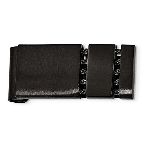 Acero inoxidable cepillado pulido grabable negro plateado dinero clip joyería regalos para hombres