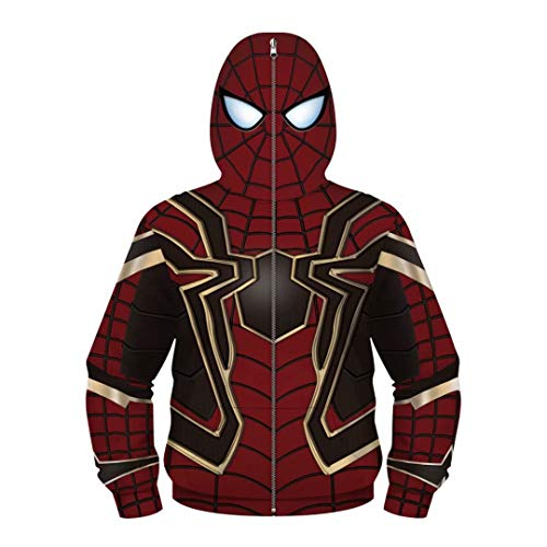 Tsyllyp Boys Children's Full-Zip Up Hoodies Costume Cosplay 3D Jackets Pullover